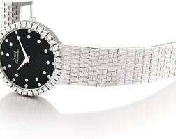23. piaget | reference 12336 a heavy white gold diamond-set bracelet watch, circa 1980