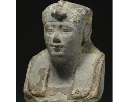 17. a limestone bust of a king, ptolemaic period, circa 305-250 b.c.