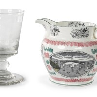 23. two wearmouth bridge commemorative wares, probably north east england, 19th century |