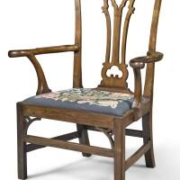 5. a scottish george iiilaburnum armchair, third quarter 18th century