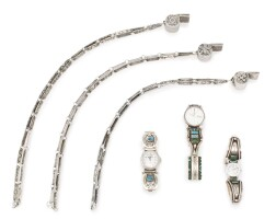 7. group of navajo silver accessories including watches and whistles, four corners area