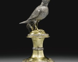 10. a swiss parcel-gilt silver drinking cup in the form of a lark, nicholas matthey, neuchâtel, late 17th century