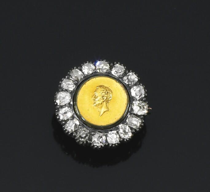 Diamond mourning brooch, circa 1852. LOT SOLD. £750