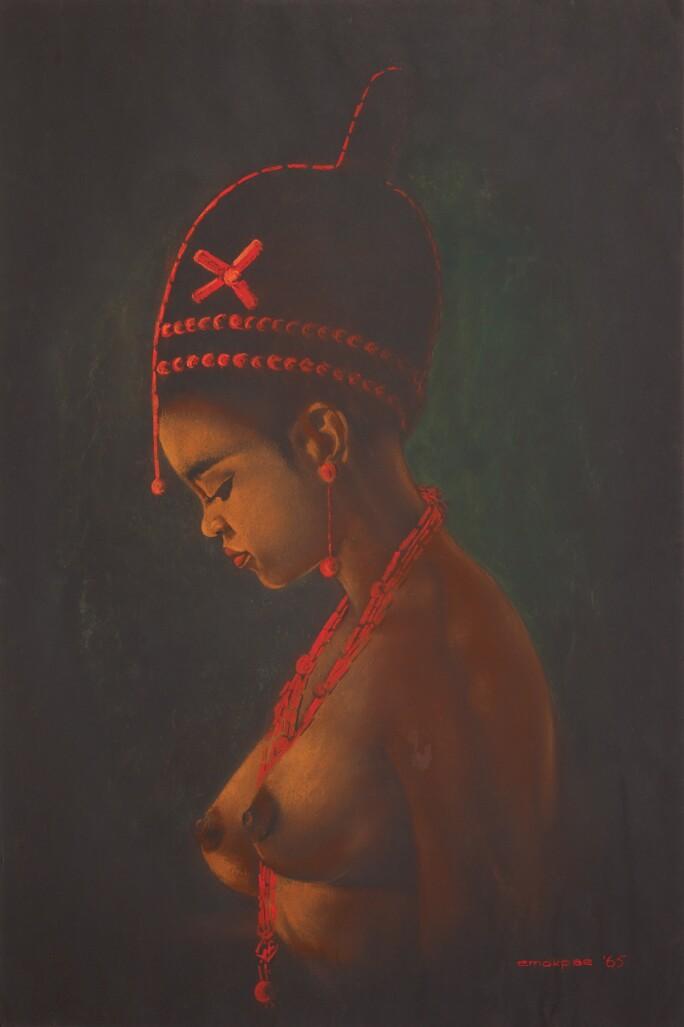 Erhabor Emokpae, Young Woman in Profile
