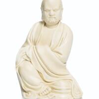 204. 清十八世紀 德化白釉羅漢坐像