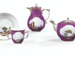 38. partie de service à thé en porcelaine de meissen du xviiie siècle, vers 1740