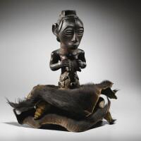 131. statue, luba, république démocratique du congo |