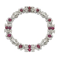 362. ruby and diamond necklace, 1930s