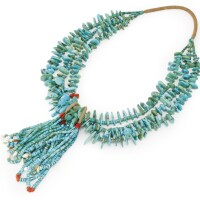 2. navajo turquoise necklace with jaclas, four corners area