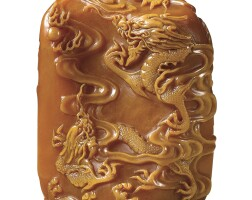 3008. a superbly carved and extremely raretianhuang 'dragon' seal signed lin ji qing dynasty,kangxi period