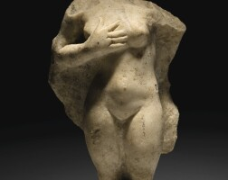 17. an attic marble torso of a weeping siren, 4th century b.c. | an attic marble torso of a weeping siren