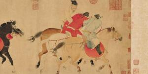 'Five Drunken Princes' – A Rare Surviving Scroll by Master Ren Renfa