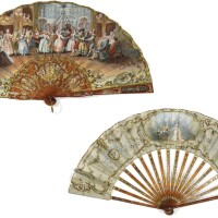 42. two tortoiseshell fans, french, late 19th century   two tortoiseshell fans, french, late 19th century