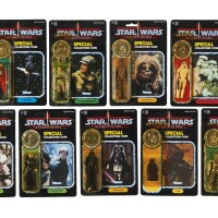 80. nine star wars power of the force '92-back' action figures, 1985