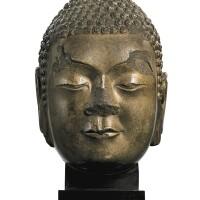 3035. 北齊 大理石雕佛頭像