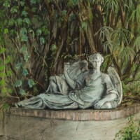 22. victor edelsteinborn in1946 | view of the fountain in the courtyard of the palazzo brandolini, venice