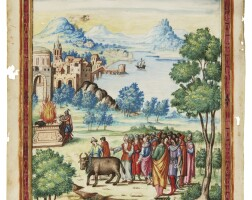 11. a sacrifice, full-page miniature [italy, c.1540]