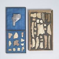 106. a group of thirty-four oracle bones with inscriptions shang dynasty, 13th-11th century bc