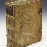 50. angelus de clavasio, summa angelica, venice, 1487, contemporary german stamped pigskin