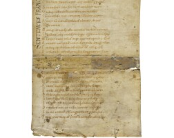 1. a collection of leaves from decorated manuscripts, in latin, on vellum