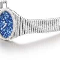 19. piaget | reference 9850 c18 a heavy white gold bracelet watch with sodalite dial, circa 1975