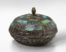 3. tiffany studios | a rare covered basket