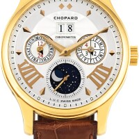 39. chopard | l.u.c lunar one, reference 16/1894 a limited edition yellow gold perpetual calendar wristwatch with moon phases and leap year indication, circa 2008