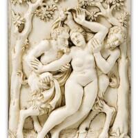 29. after francis van bossuit (1635-1692), netherlandish, 18th century , | bacchanteand twosatyrs