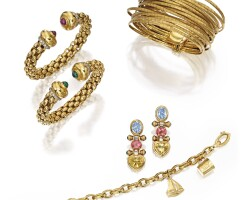 1. group of 18 karat gold jewelry
