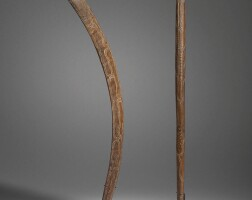 9. a boomerang and a hand club, south west queensland 19th century
