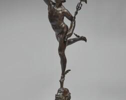 9. after a model by giambologna (douai 1529-1608 florence)attributed to francesco (1749-1819) or luigi righetti (1780-1852) | mercury, cast rome, c. 1780-1820