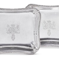 348. a pair of george iii silver ambassadorial entree dishes, maker's mark ip probably for joseph preedy, london, 1804 |