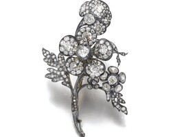 46. diamond brooch, late 19th century and later