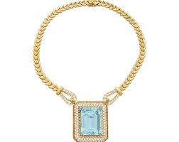 6. aquamarine and diamond necklace
