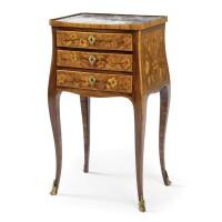 59. a fine gilt-bronze mounted kingwood, tulipwood marquetry table en chiffonnière louis xv / louis xvi transitional,circa 1770-1775