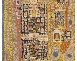 767. a pilgrimage pata of the temple-city satrunjaya western india, rajasthan, circa 1900