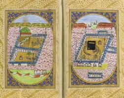 41. an illuminated dala'il al-khayrat, signed by 'ali al-wasfi, turkey, ottoman, dated 1276 ah/1859 ad
