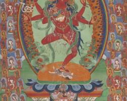 460. a thangka depicting kurukulla tibet, 19th century