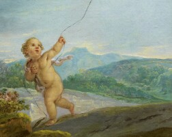 1. etienne parrocel | angel playing with a kite