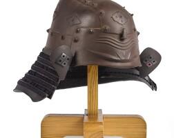 2. a zunari kabuto[helmet] edo period, 17th century |