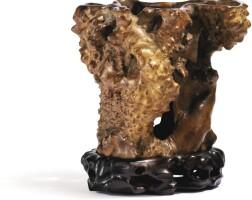 47. objet de lettréen ronce de buis évidé dynastie qing, xixe siècle  