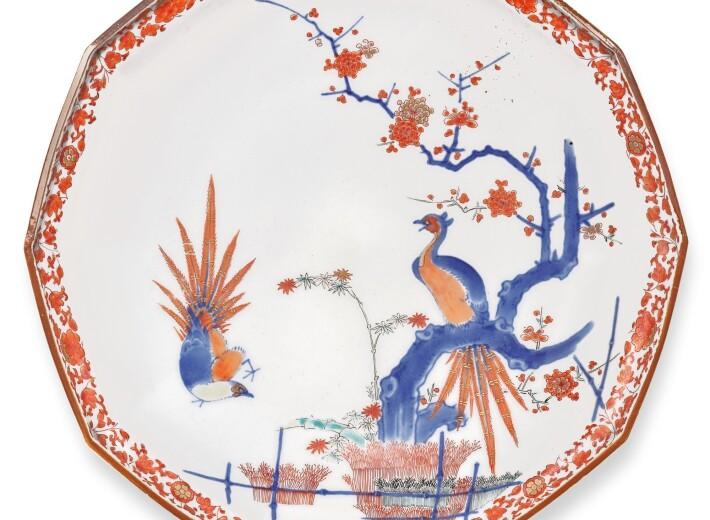A pair of Kakiemon Dishes, Fuku Marks, Edo Period, Late 17th Century
