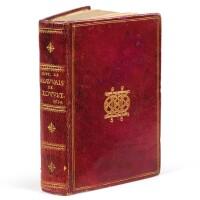 126. louvet. l'histoire de la ville et cité de beauvais... rouen, 1614. in-12. maroquin rouge au chiffre de pereisc.