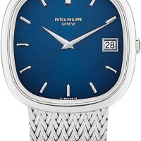 138. patek philippe   golden circle, reference 3604-2 a white gold bracelet watch with date, made in 1979