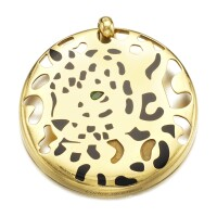 8. gold, enamel and emerald pendant, cartier