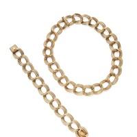 2. gold necklace and bracelet, tiffany & co.
