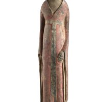3005. a large painted pottery figure of an official northern wei dynasty |