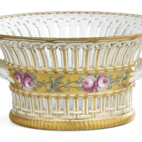 28. a basket from the dowry service of grand duchess yelena pavlovna, imperial porcelain manufactory, st petersburg, period of paul i (1796-1801)  