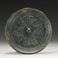 5. a bronze 'immortals' mirror han dynasty