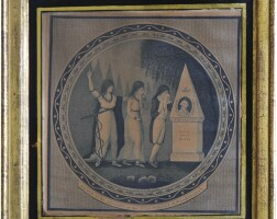 8. mourning print to george washington, circa 1801